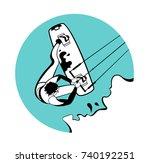 vintage surfing label and badge....   Shutterstock .eps vector #740192251