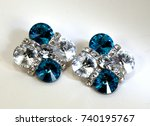 dressy turquoise and white clip ... | Shutterstock . vector #740195767
