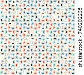 beautiful geometric pattern...   Shutterstock .eps vector #740202235