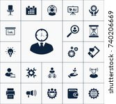 time management icon business... | Shutterstock .eps vector #740206669