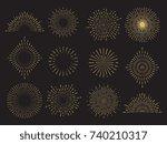 Abstract Sun Burst Collection ...