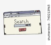 browser window with search bar. ... | Shutterstock .eps vector #740213965