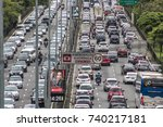 sao paulo  brazil  october 23 ... | Shutterstock . vector #740217181