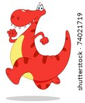 running dinosaur | Shutterstock .eps vector #74021719