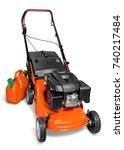 lawn mower. | Shutterstock . vector #740217484