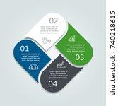 infographic template. vector... | Shutterstock .eps vector #740218615