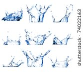 Set Of Nine Water Splashes ...