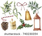 Watercolor Christmas Decor Wit...