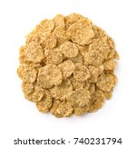 top view of  dry organic... | Shutterstock . vector #740231794