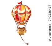 bright aerostat isolated on...   Shutterstock .eps vector #740236417