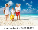 happy beautiful family with...   Shutterstock . vector #740240425