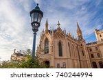 lednice castle in south moravia ... | Shutterstock . vector #740244994