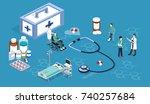 isometric 3d vector...   Shutterstock .eps vector #740257684