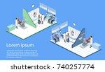 isometric 3d vector... | Shutterstock .eps vector #740257774