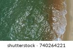 aerial view. sand and ocean... | Shutterstock . vector #740264221