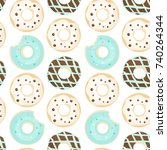 vector seamless pattern with... | Shutterstock .eps vector #740264344