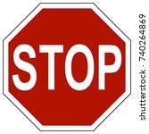traffic sign stop | Shutterstock .eps vector #740264869