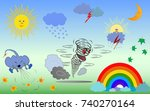 natural phenomena on the planet.... | Shutterstock .eps vector #740270164