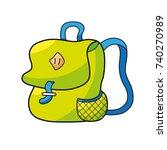 green backpack or school bag... | Shutterstock .eps vector #740270989
