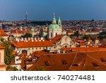 panorama prague city skyline... | Shutterstock . vector #740274481