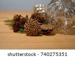 christmas decorations | Shutterstock . vector #740275351