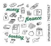 money  finance and banking... | Shutterstock .eps vector #740275567