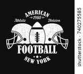 new york  american football... | Shutterstock .eps vector #740275585