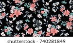 seamless floral pattern in... | Shutterstock .eps vector #740281849