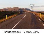 iceland road | Shutterstock . vector #740282347