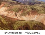 multicolored mountains of... | Shutterstock . vector #740283967