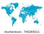 blue world map | Shutterstock .eps vector #740285611