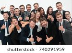 successful business team... | Shutterstock . vector #740291959