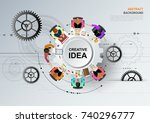 idea concept for business... | Shutterstock .eps vector #740296777