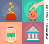 money vector commercial group... | Shutterstock .eps vector #740297455