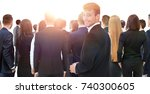 waiting for their turn people... | Shutterstock . vector #740300605
