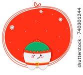 christmas tooth  elf  cartoon... | Shutterstock .eps vector #740301244
