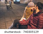 cropped angled view image of a... | Shutterstock . vector #740305129
