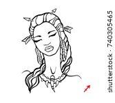 sagittarius. zodiac signs... | Shutterstock .eps vector #740305465