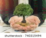 business and economic growth... | Shutterstock . vector #740315494