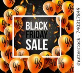 black friday sale poster by... | Shutterstock .eps vector #740317849