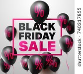 black friday sale poster by... | Shutterstock .eps vector #740317855
