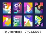 abstract brochure design ... | Shutterstock .eps vector #740323039