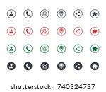 set of contact detail icon... | Shutterstock .eps vector #740324737