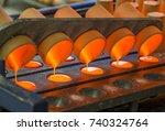 fusion and oxidation of steel... | Shutterstock . vector #740324764