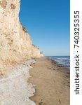 erosion on the beaches of isla... | Shutterstock . vector #740325355