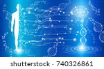 abstract background technology... | Shutterstock .eps vector #740326861