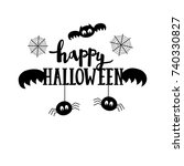 happy halloween lettering. the... | Shutterstock .eps vector #740330827