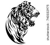 tribal tiger | Shutterstock .eps vector #740332975