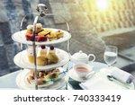 afternoon tea | Shutterstock . vector #740333419