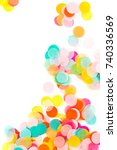 background of colorful paper... | Shutterstock . vector #740336569
